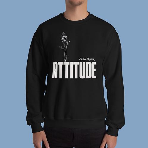 Attitude Unisex Sweatshirt | Black and Red