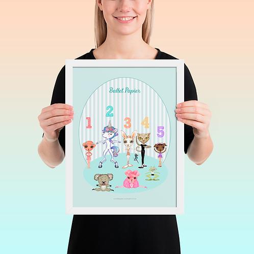 Ballet Positions Pets  Framed Poster