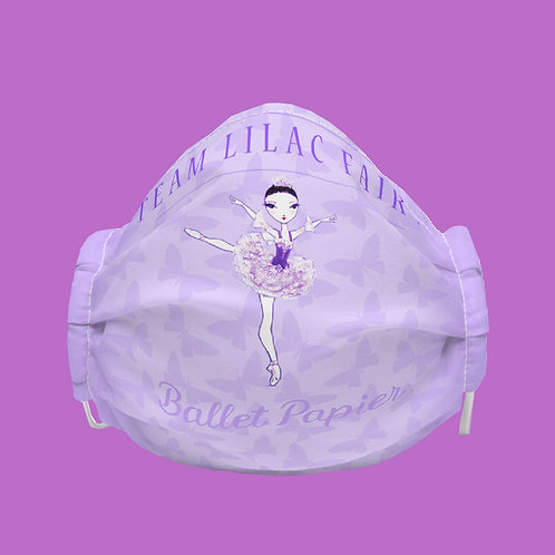 Team Lilac Fairy Face Mask