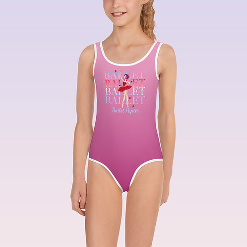 Rose Ballet Girls Leotard