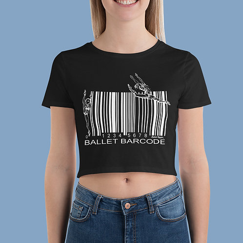 Ballet Barcode Cropped T-shirt