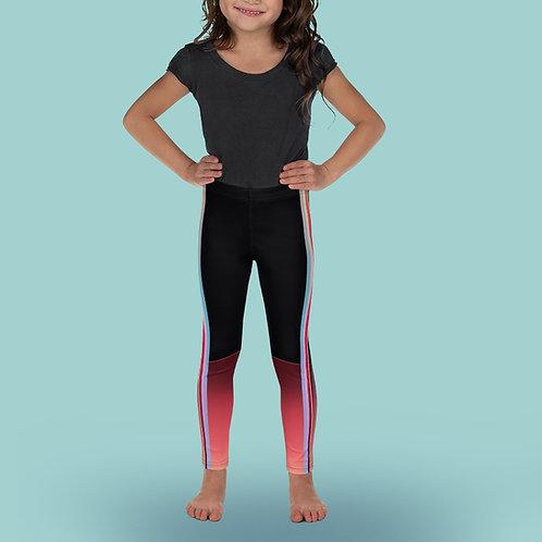 Iridescent / Cherry - Girl Ballet Leggings