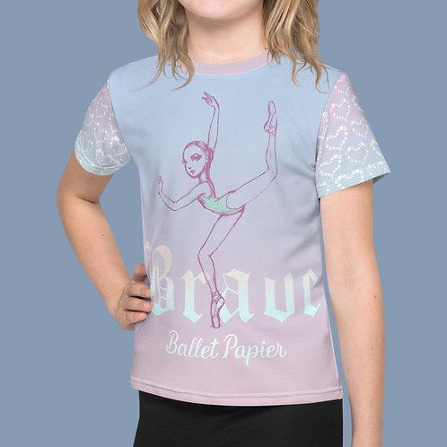 Brave Ballerina Girl T-shirt