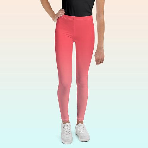 Cherrie/Gold Youth Ballet Leggings