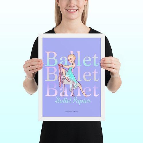 Ballet Feet Framed Poster