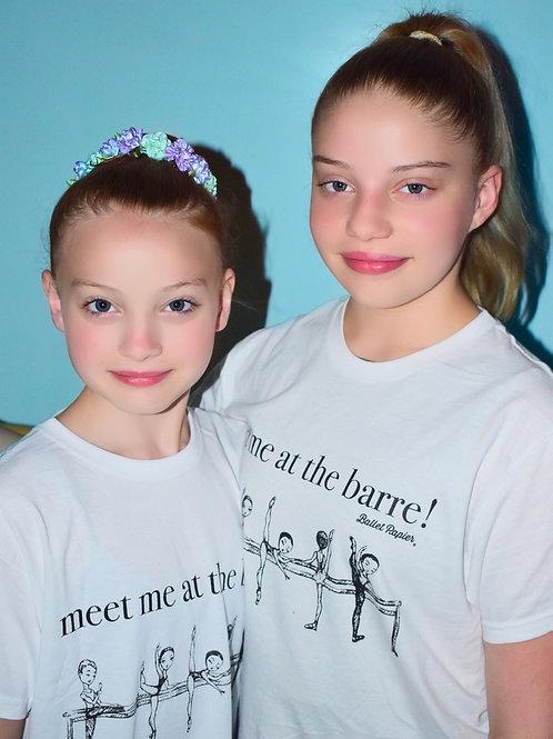 At the Barre Unisex T-shirt Girls & Women