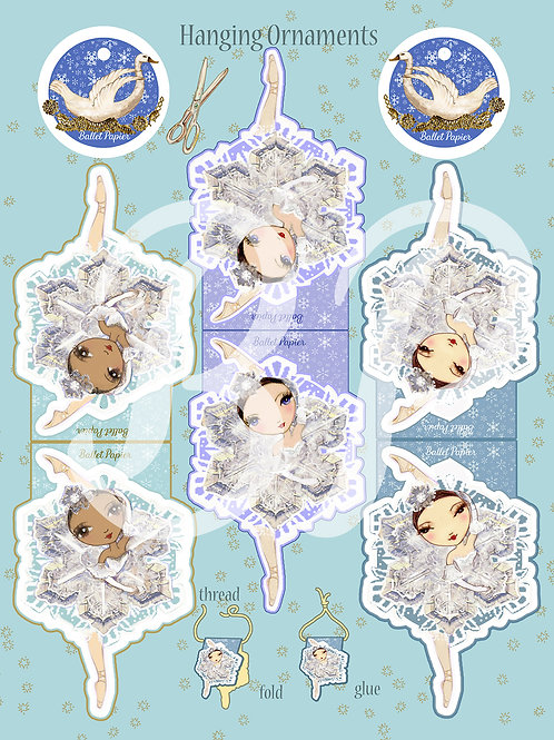 Waltz of the Snowflakes Hanging Ornament