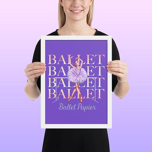 Ballet Barre Framed Poster