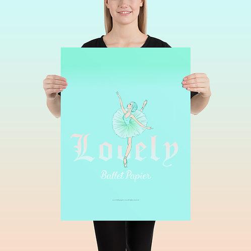 Lovely Ballerina Poster