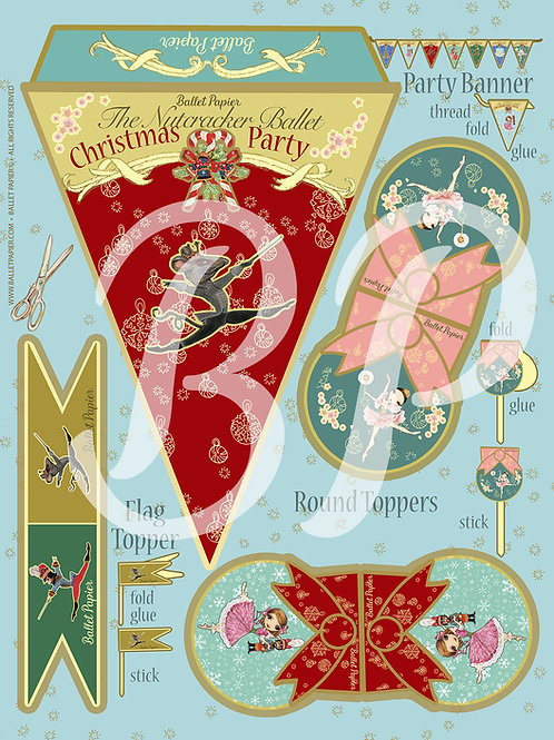 The Nutcracker Party Banner & Topper 3