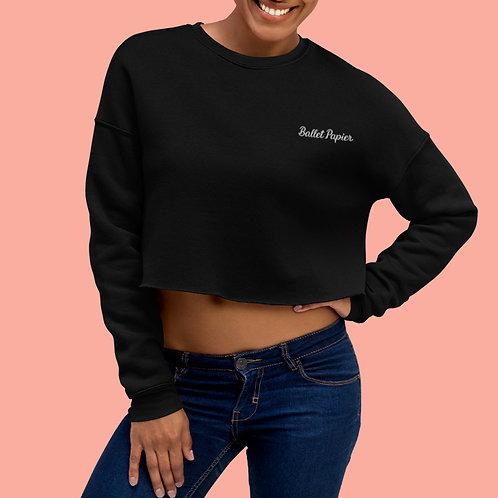 Ballet Papier Cropped Sweatshirt Black