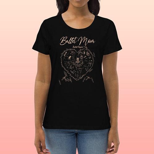 Ballet Mom Heart Organic t-shirt