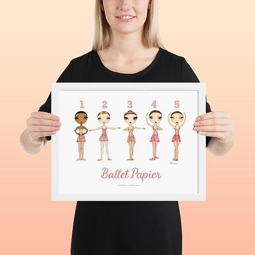 Ballet Positions Framed Posters