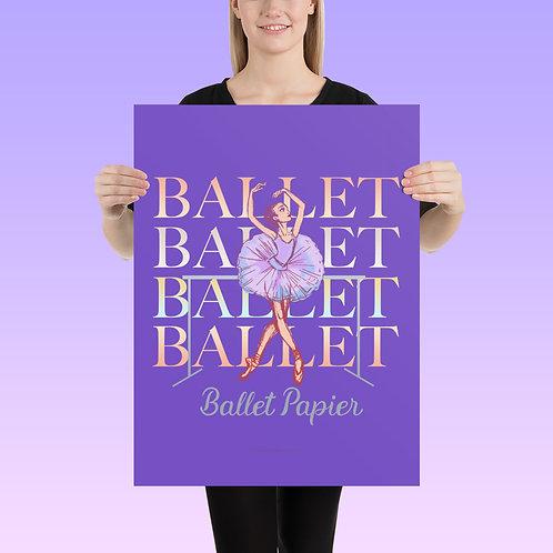 Ballet Barre Poster