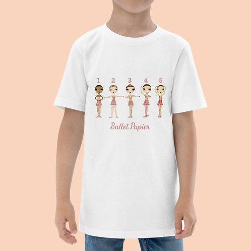 Ballet Positions Girls t-shirt