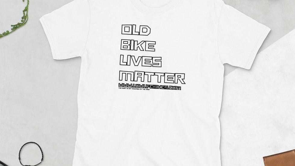 Old Bike Lives Matter-Black lettering