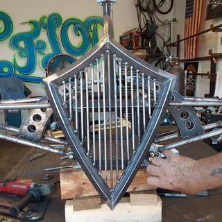Front view of Trike in Progress