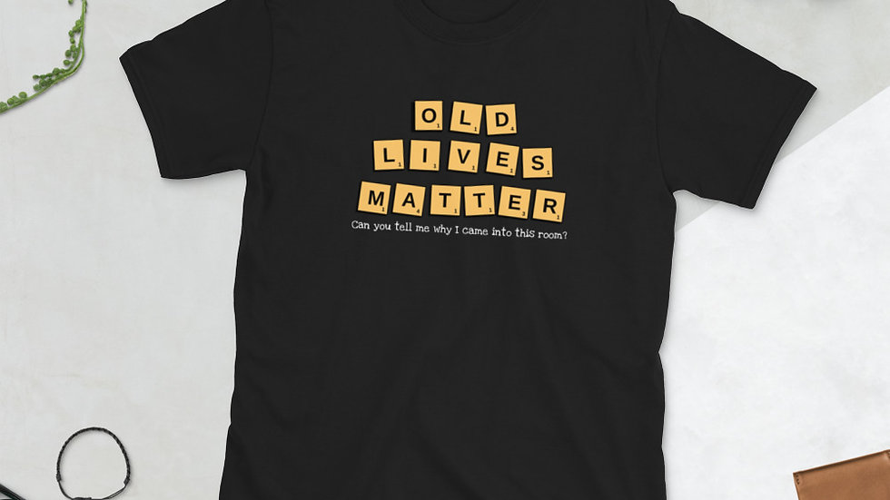 Old Lives Matter-Scrabble T-shirt