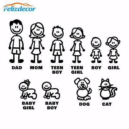 Self-Adhesive Family Figures