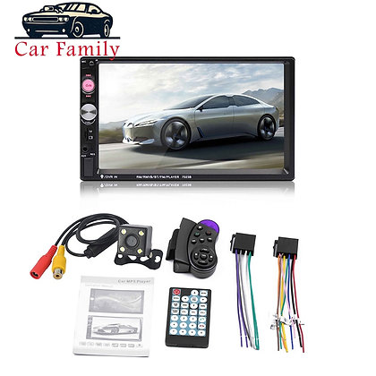 7 Inch HD Touch Screen Bluetooth, Rear Camera, Remote Controller