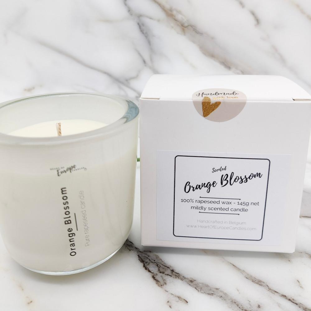 orange blossom scented candle
