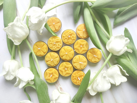 Recycled beeswax tealights