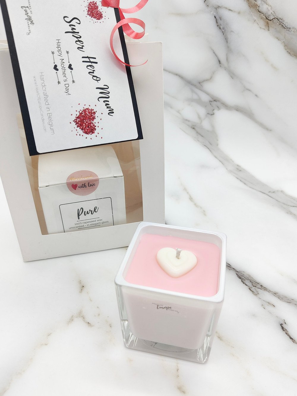 rapeseed candles, mother's day gift set