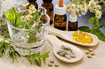 Alternative Medicine. Rosemary, mint, ch