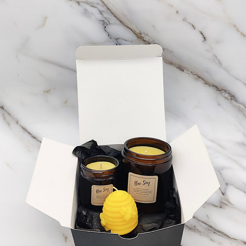 Bee Soy candle gift box