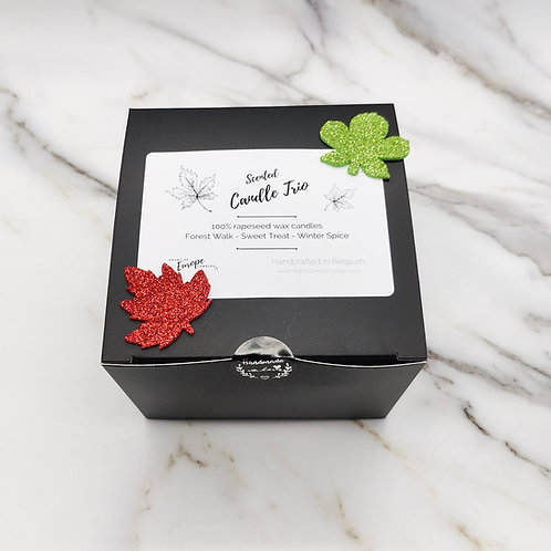 Autumn Candle Trio - discovery gift set