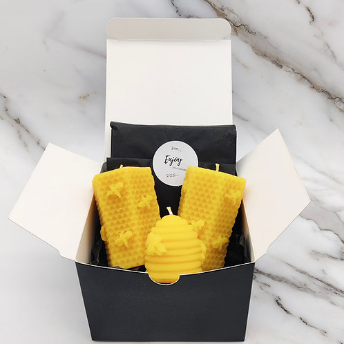 Small beeswax gift box