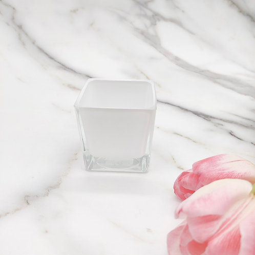 Candle refill - Pure rapeseed - Cube jar