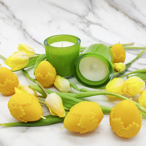 Spring rapeseed and beeswax candles.jpg