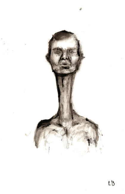 """Man With Long Neck"""