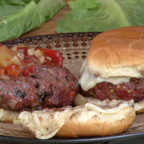 Burgers w/ Peppers