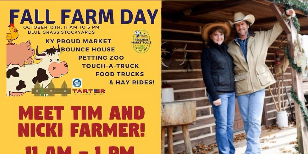 Meet Tim and Nicki Farmer at Fall Farm Day!