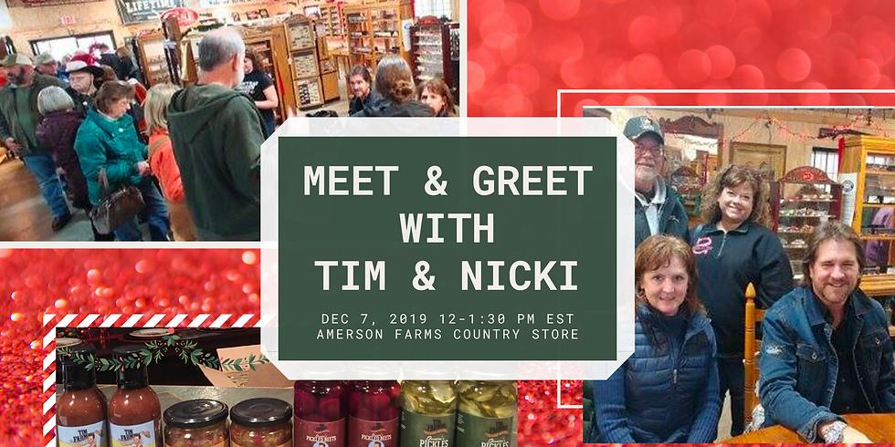 Meet & Greet with Tim & Nicki Farmer
