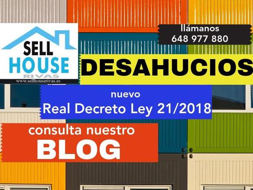 DESAHUCIOS DE VIVIENDA SEGÚN RD 21/2018.