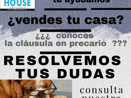 Cláusula en precario COMPRA-VENTA vivienda. SELL HOUSE RIVAS.