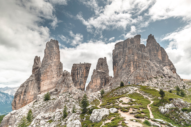 Cinque Torri, Dolomites, Italie