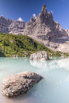 Lac de Sorapis, Dolomites, Italie