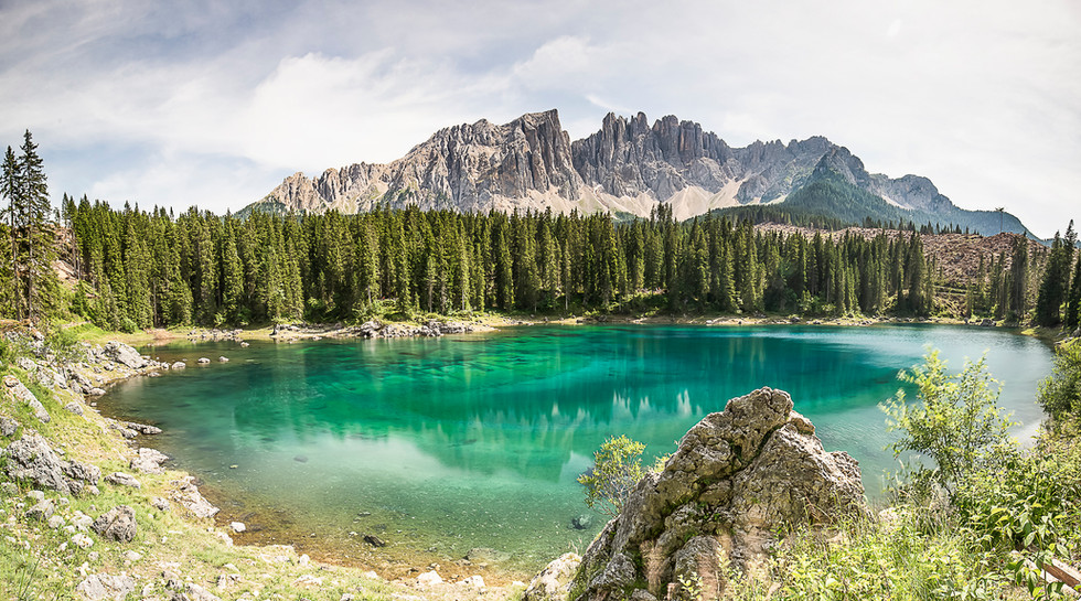 Lac de Carezza, Dolomites, Italie