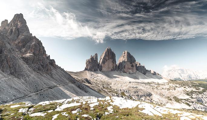 Tre Cimes, Dolomites, Italie