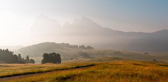 Alpes de Siusi, Dolomites, Italie
