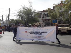 En contra del establecimiento de la mina de cobre en Samalayuca, Municipio de Juárez, Chihuahua