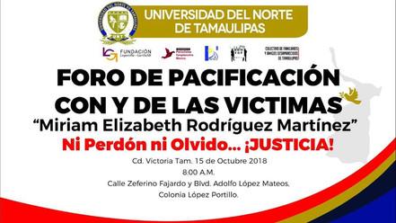 Foro de las Víctimas y para las Víctimas en Tamaulipas