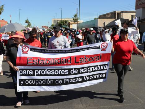 """UNISON: Una semana en huelga y el argumento oficial es… """"no hay recursos"""""""