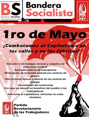 YA SALIÓ BANDERA SOCIALISTA. MAYO 2019