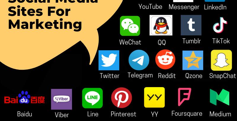 30 Popular Social Media Sites For Marketing