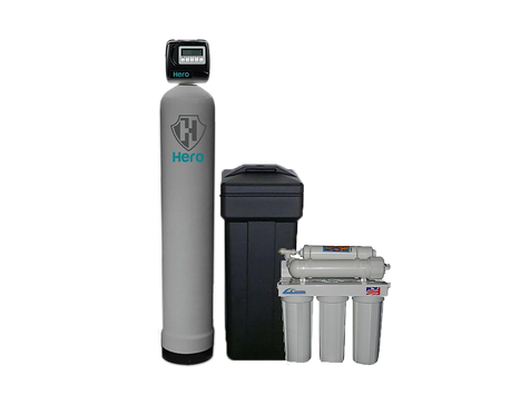 Free 5 Stage RO with Hero Hybrid Whole Home Water Treatment System